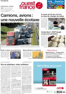 Couverture de Ouest France Guingamp