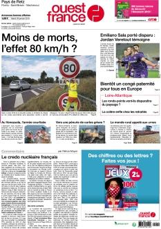 Jaquette Ouest France Pornic Pays-de-Retz