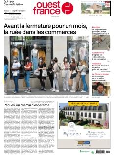 Couverture de Ouest France Centre-Finistère