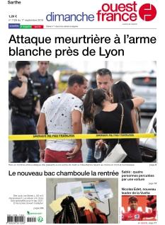 Jaquette Dimanche Ouest France Sarthe