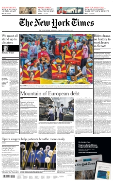 Couverture de The New York Times International Edition