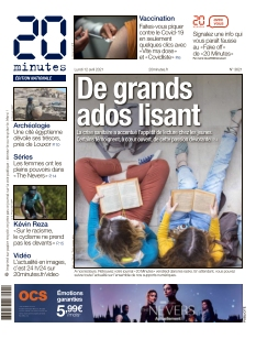Jaquette 20 Minutes Edition Nationale